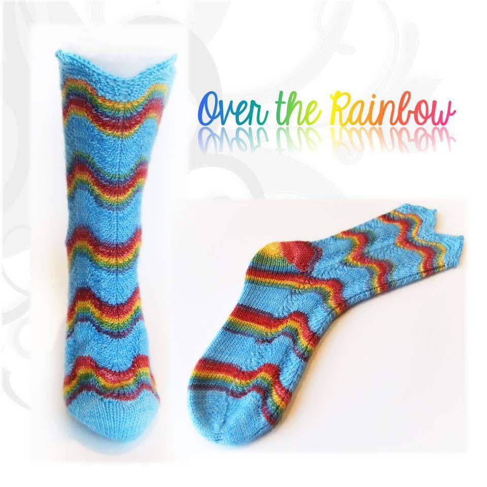 Sock pattern Over the rainbow - Biscotte yarns