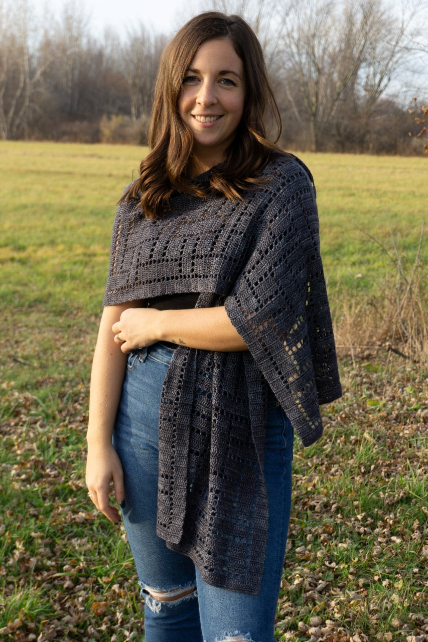 Plain Weave ♥ Crochet Shawl Pattern