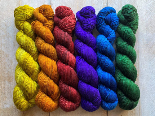 Mini Skeins of Yarn PAINTBOX gradient yarn set  PRIDE
