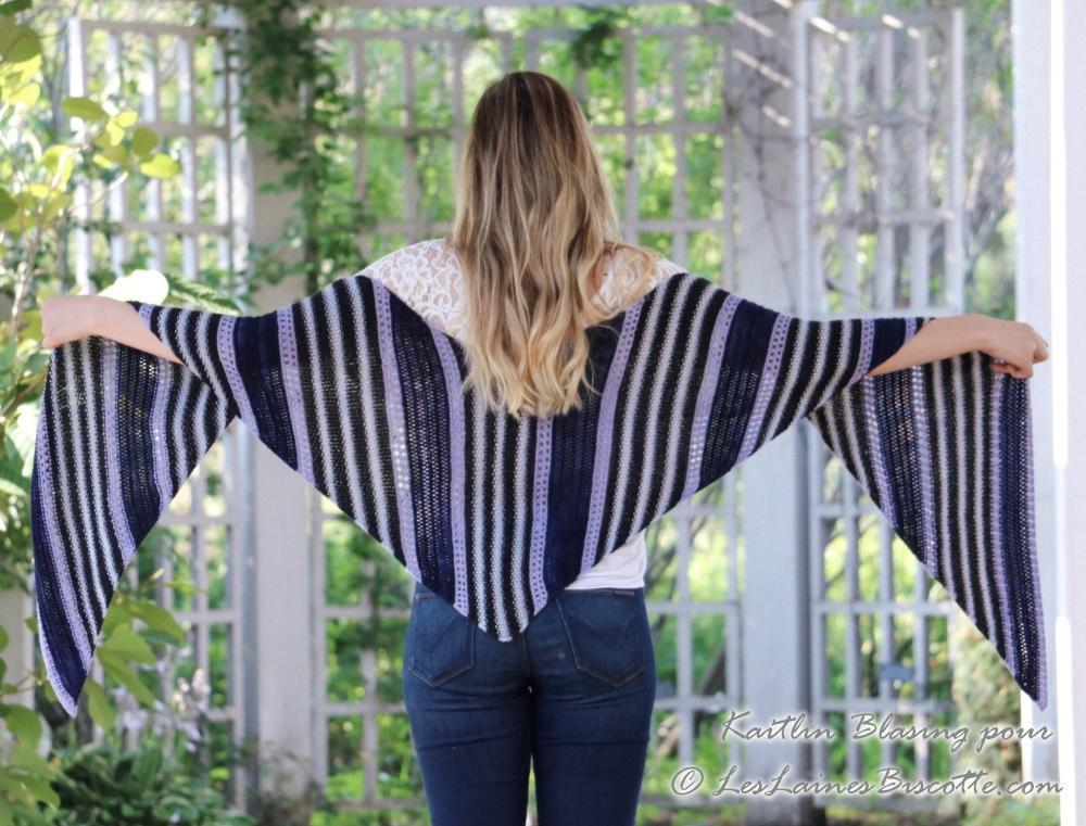 Cascading Angles Shawl Pattern