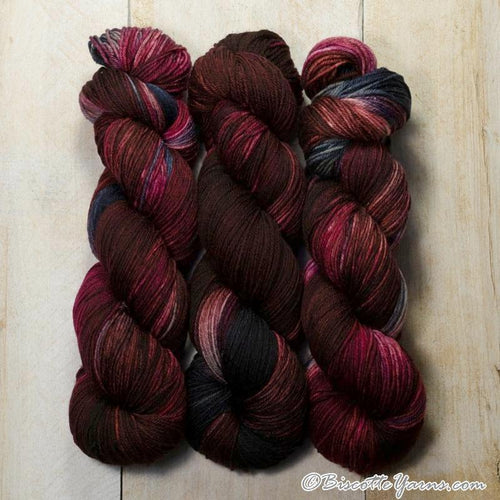 DK PURE | variegated dk weight yarn Plum Pouding