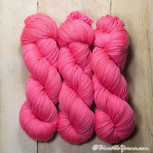 DK PURE | semi-solid dk weight yarn Rose neon