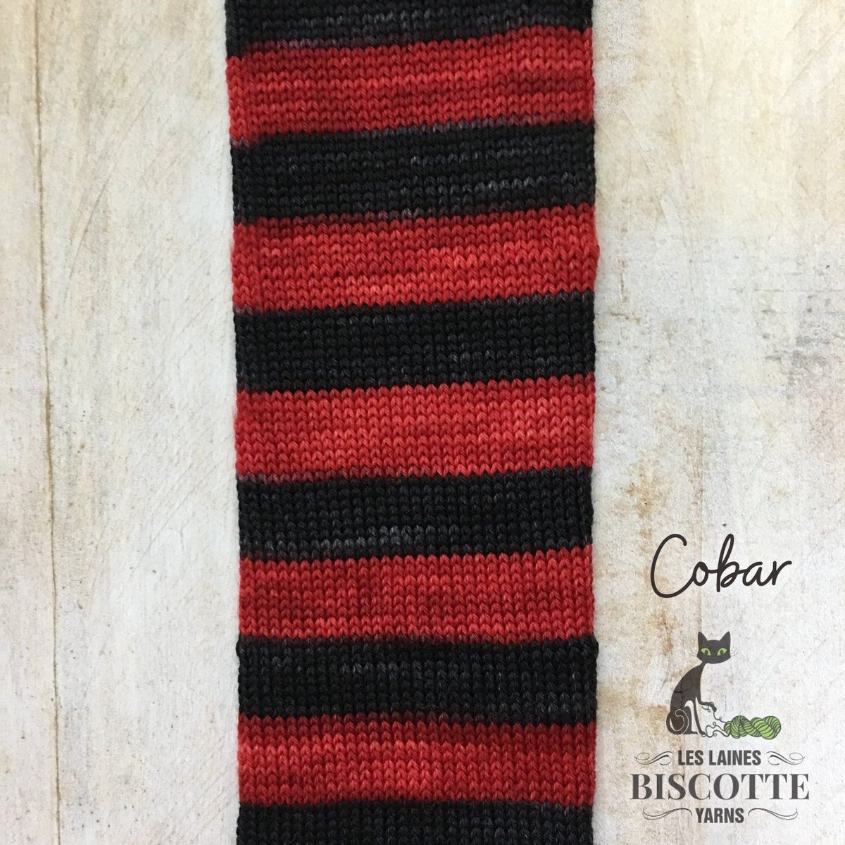 Bis-sock yarn Cobar self-striping hand-dyed yarn