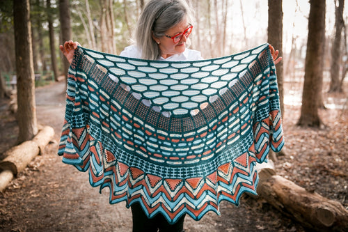 Knitting knit | Slipstravaganza shawl by Stephen West