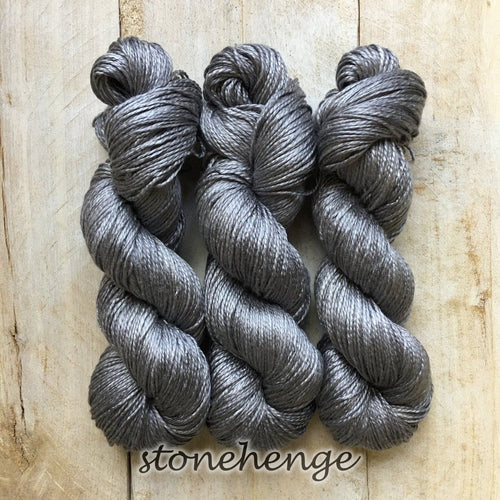 STONEHENGE by Louise Robert Design | ALGUA MARINA hand-dyed semi-solid yarn