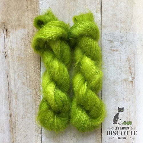 Hand-Dyed Kid Silk Yarn | Hermione LIMETTE
