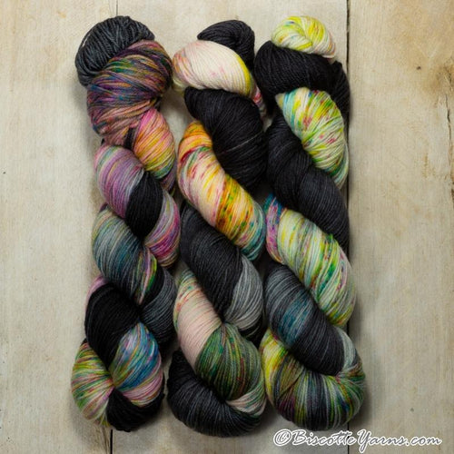 Bis-sock yarn Sweet Dreams speckled hand-dyed yarn | 100g (2x50g) or 50g mini skein size