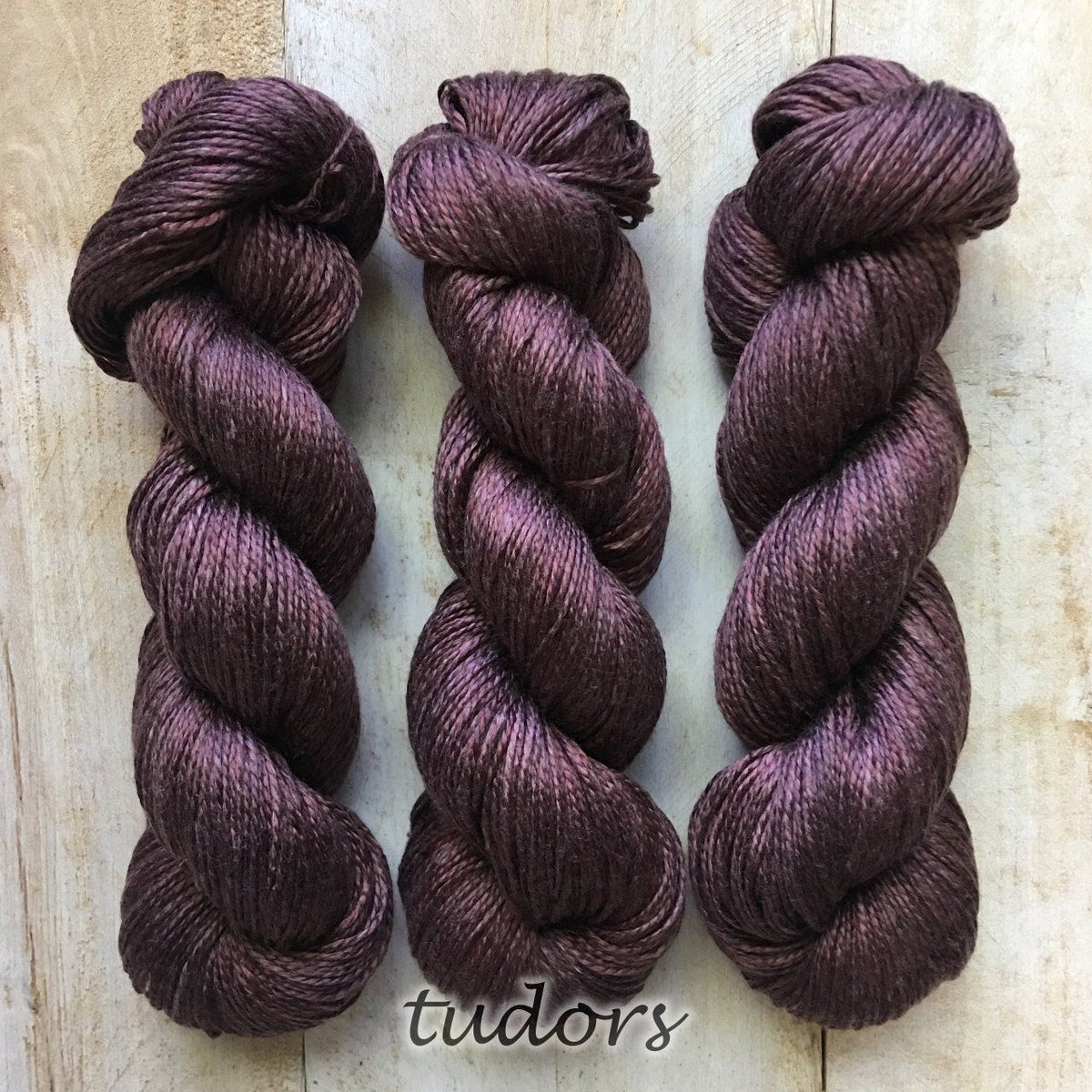 TUDORS by Louise Robert Design | ALGUA MARINA hand-dyed semi-solid yarn