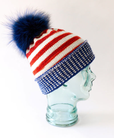 Hat knitting pattern - HOME OF THE BRAVES