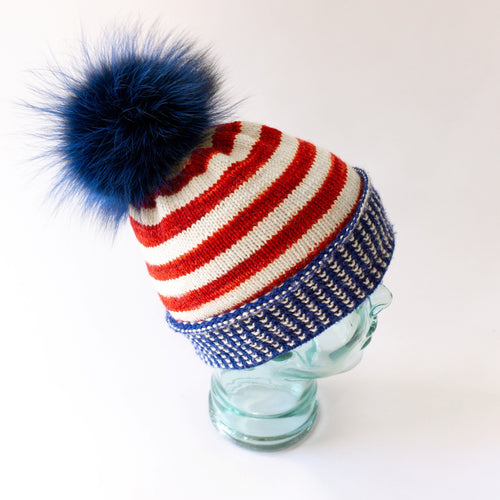 Hat knitting kit - HOME OF THE BRAVES
