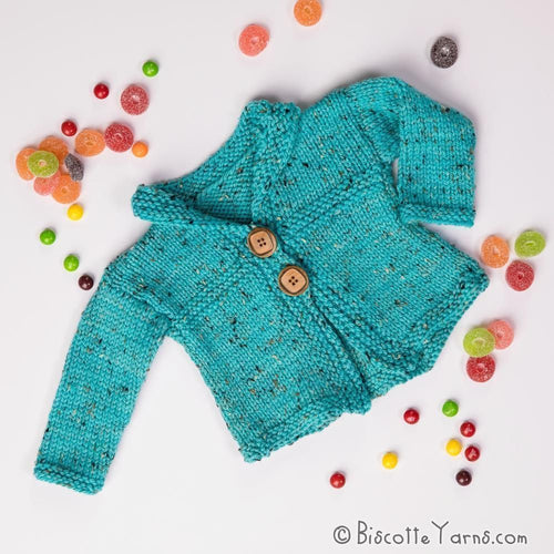 Three ways Baby Jacket - Knitting pattern