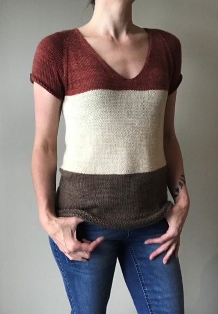 Timelines Tee | Free Knitting Pattern