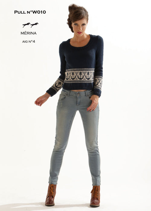 Free Cheval Blanc pattern - Jumper W010 Web Exclusive