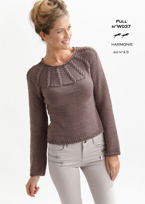 Free Cheval Blanc pattern - Jumper W037 Web Exclusive