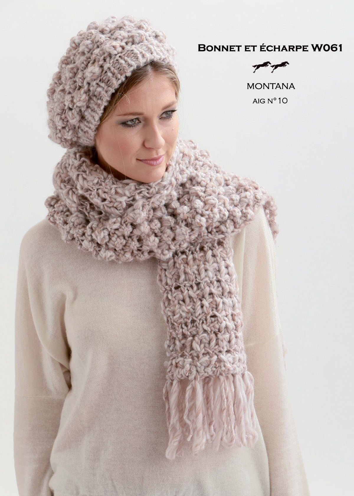 Free Cheval Blanc pattern - Scarf and Bonnet W061 Web Exclusive