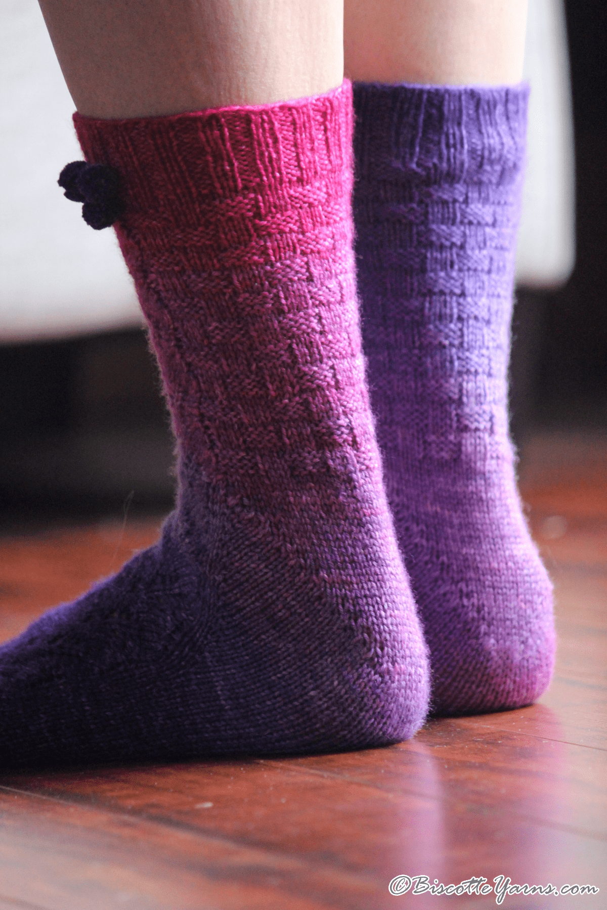 Blueberry Mocktail Socks Pattern