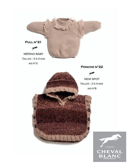 Free Cheval Blanc pattern - Poncho - Cat. 25-22
