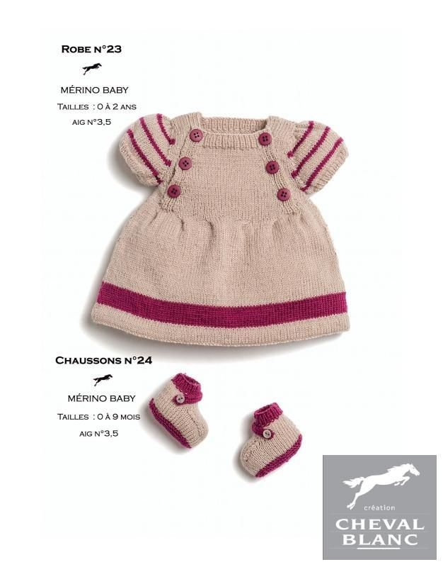 Free Cheval Blanc pattern - Booties - Cat. 25-24