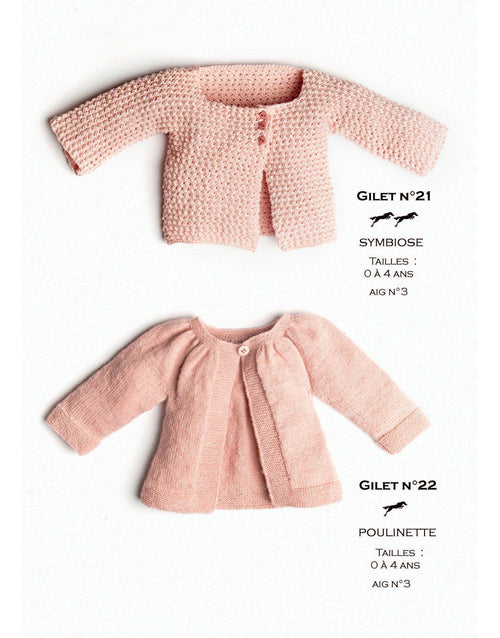Cheval Blanc pattern Cat. 31, No 21 - Gilet - to 0 to 4 years old - baby cardigan - baby pattern