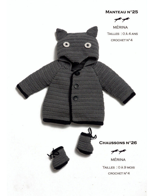 Cheval Blanc pattern Cat. 31, No 26 - Bootees- to 0 to 9 months - baby bootees