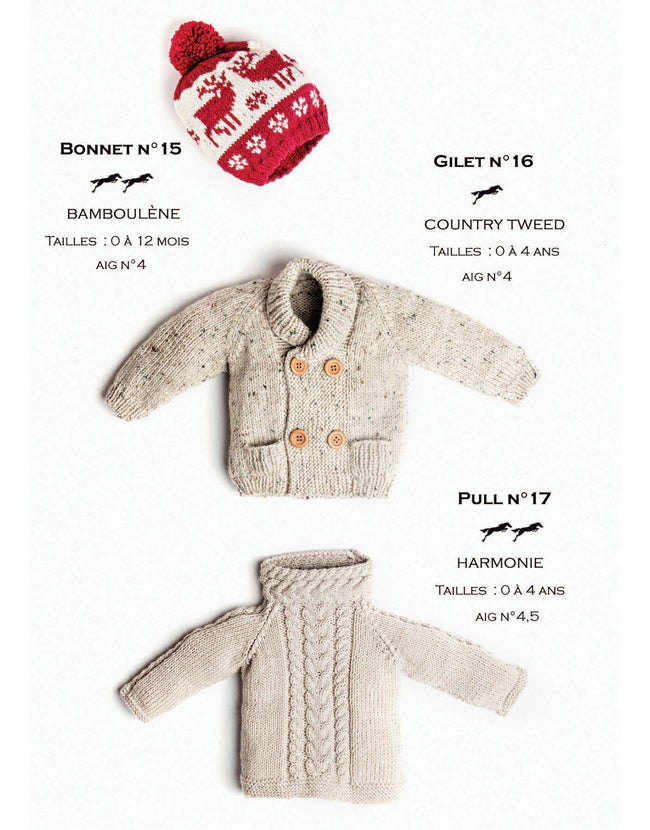 Cheval Blanc pattern Cat. 31, No 16 -Baby Cardigan - Up to 0 to 4 years old