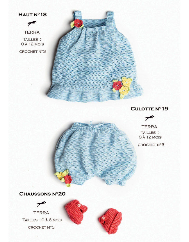 Cheval Blanc pattern Cat. 31, No 18 -Little Girly Blue Top - Up to 0 to 12 months