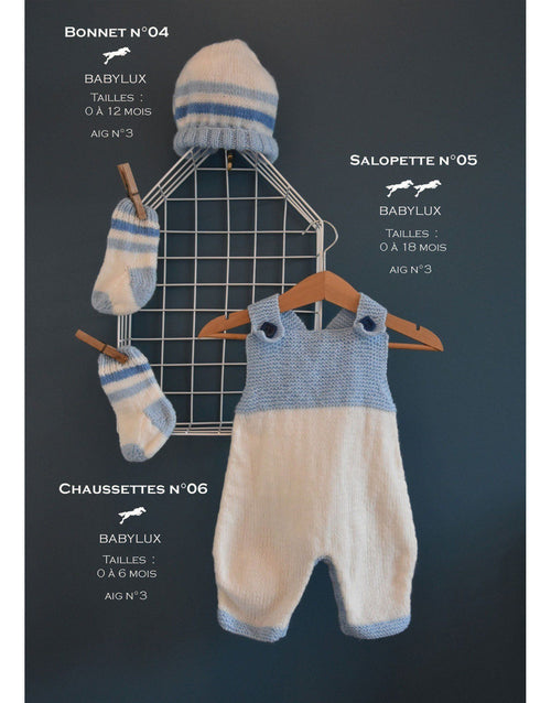 Cheval Blanc pattern Cat. 31, No 04 -Baby Beanie - Up to 0 to 12 months