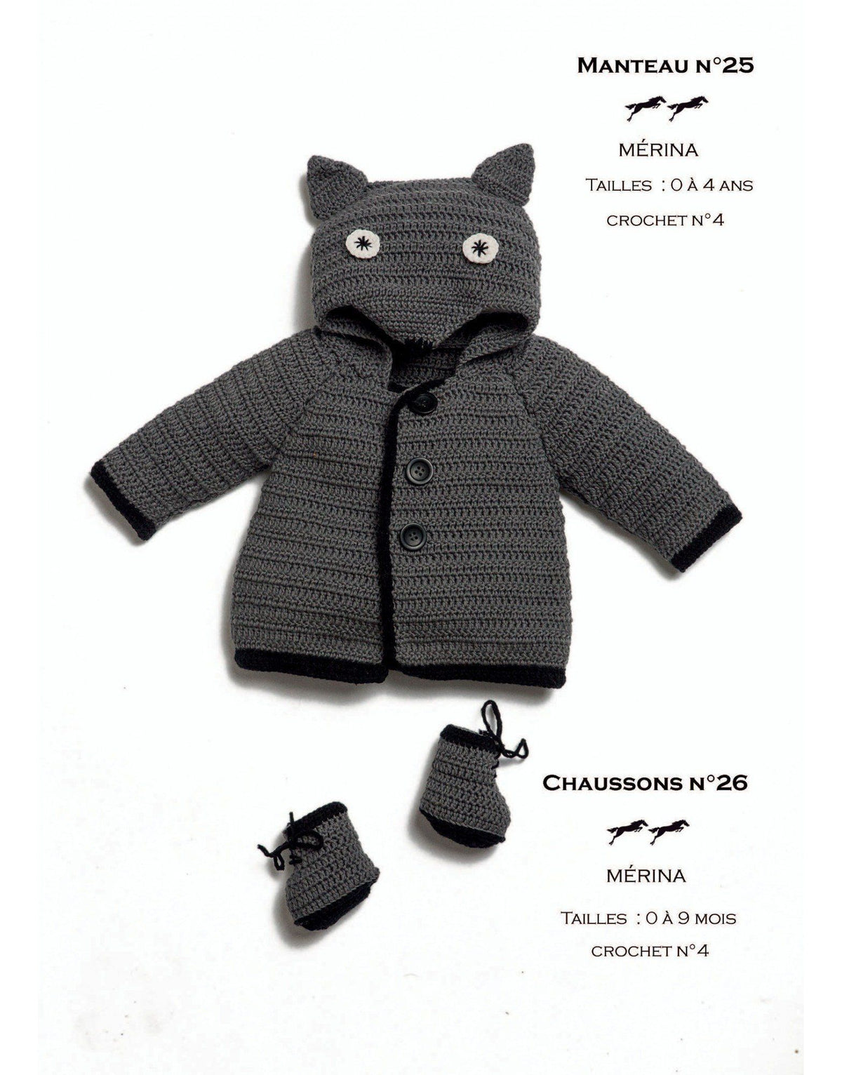 Cheval Blanc pattern Cat. 31, No 25 - Coat - to 0 to 4 years old