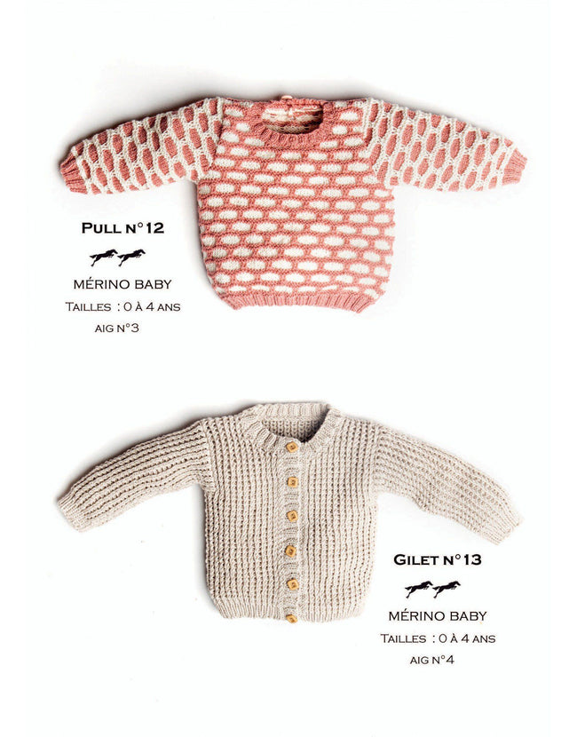 Cheval Blanc pattern Cat. 31, No 13 - Cardigan - to 0 to 4 years old