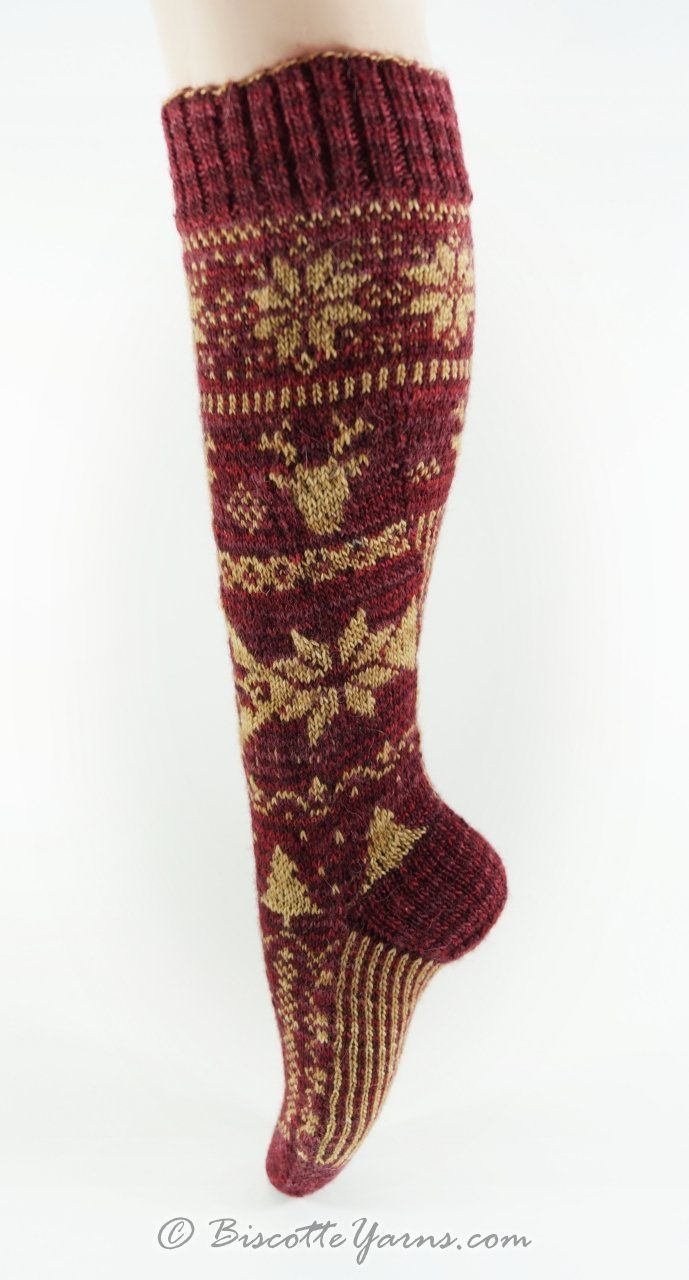 Christmas Socks Free Fairisle Pattern