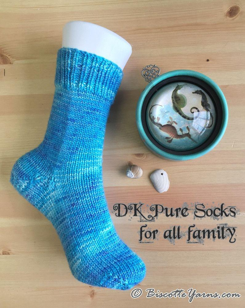 DK Pure Socks for all family! - Biscotte yarns