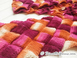 Entrelac scarf knitting pattern Biscotte's version
