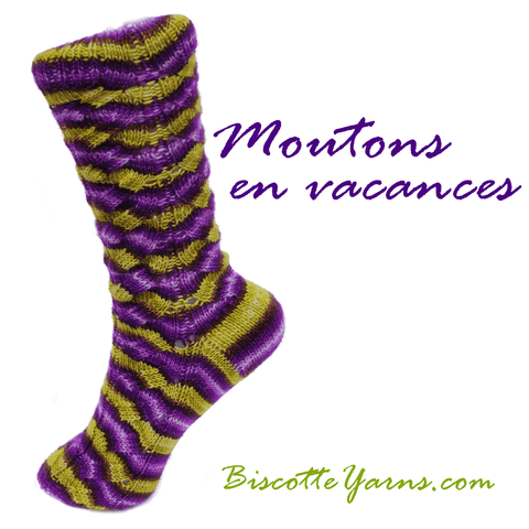 Free sock pattern - Moutons en vacances
