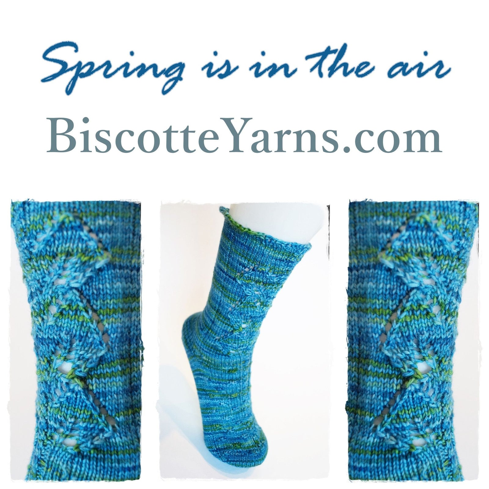 Free sock pattern - Spring is in the air - Biscotte yarns