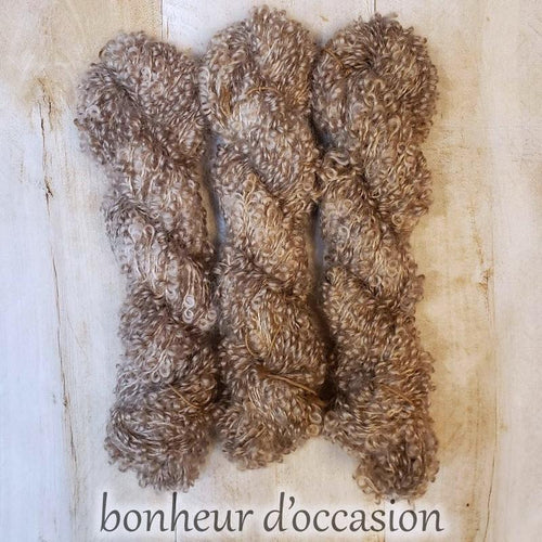 BONHEUR D'OCCASION by Louise Robert Design | BOUCLE MOHAIR hand-dyed semi-solid yarn