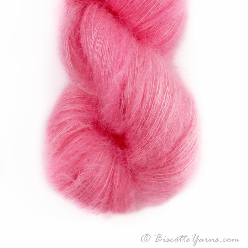 Hand-Dyed Kid Silk Yarn | Hermione FRAISE