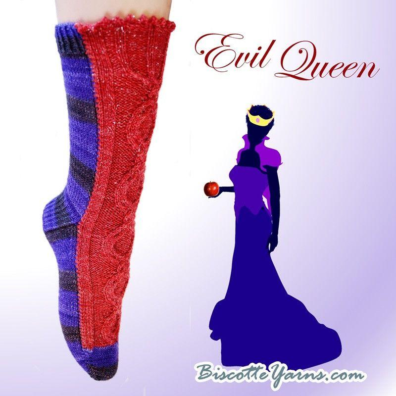 Knitting pattern Evil Queen sock - Biscotte yarns  - 1