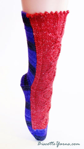 Knitting pattern Evil Queen sock