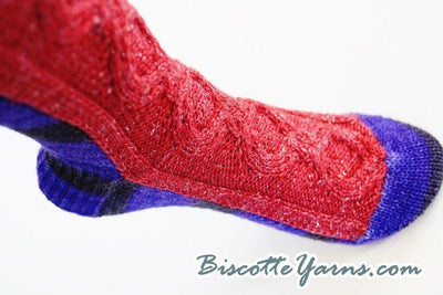 Knitting pattern Evil Queen sock - Biscotte yarns