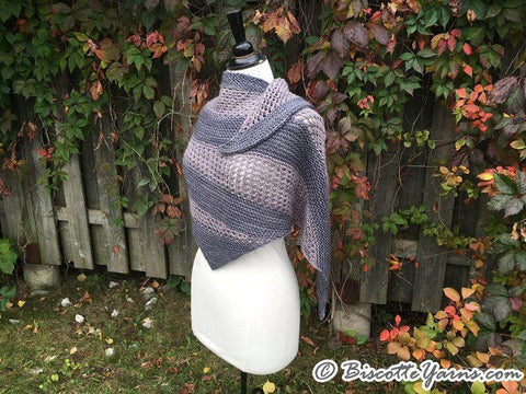 "Knitting pattern | ""Le Biscornu"" shawl"