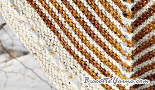 Rubeus Shawl knitting pattern - Biscotte yarns