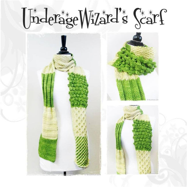 Underage Wizard's scarf pattern - Biscotte yarns