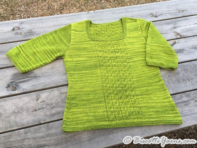 Knitting pattern ♥ Sunset Breeze sweater - Biscotte yarns