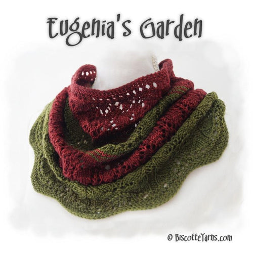 Knitting pattern Eugenia's Garden cowl