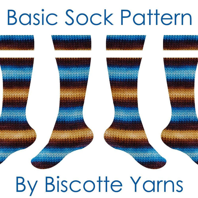 Sock pattern - basic cuff-down heel flap by Biscotte Yarns