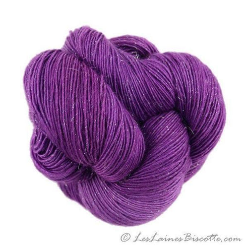 Sparkle hand-dyed yarn LUMOS - PURPLE