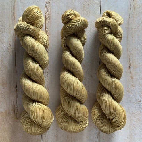 Latte ♦ Milk Protein Fiber + Wool Yarn GOLD