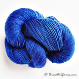 Sparkle hand-dyed yarn LUMOS - Denim - Biscotte yarns
