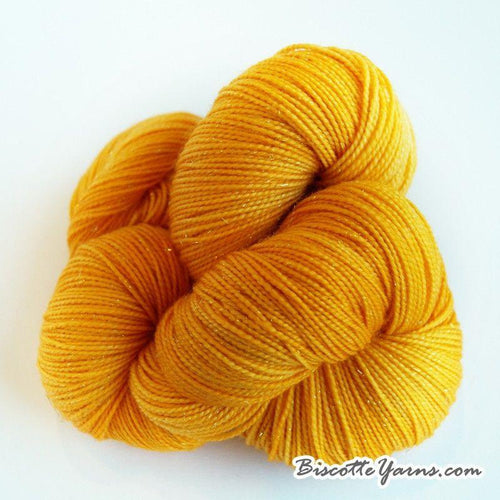 Sparkle yarn hand-dyed LUMOS - Coupe de feu - Biscotte yarns