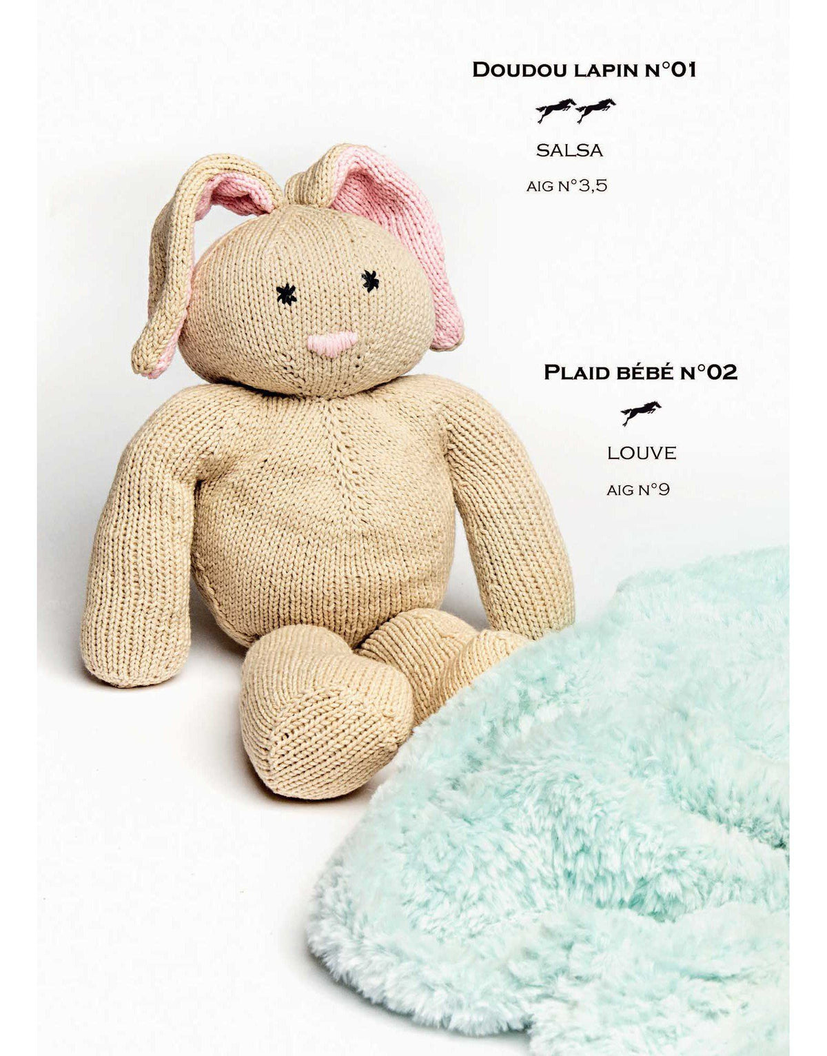 Cheval Blanc pattern Cat. 31-01 - Doudou Bunny - Biscotte yarns